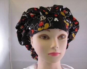 Women's Bouffant Scrub Hat Mickey Mouse