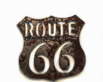 Magnet Route 66 Steel Tsalagi Cherokee Made