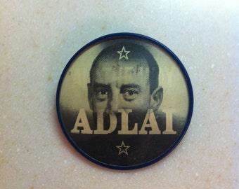 Vintage Button Political Pinback Stevenson Flasher Adlai Stevenson
