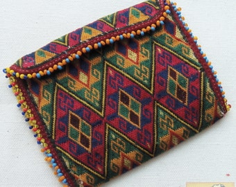 Afghanistan: Vintage Embroidered Pashtun Wallet or Pouch, Item E46