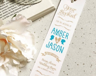 Hermione Bookmark Save The Date | Rustic Wedding Save the Date | You're Booked Save the Date | Wedding Bookmark | Personalised Save the Date