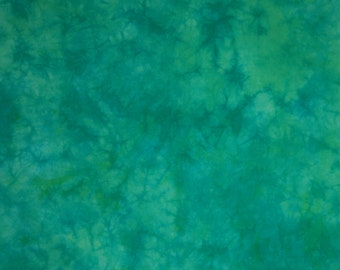 Fat Quarter, BLUE GREEN 2, Hand Dyed, Colorfast and Pre-Shrunk, 20 x 20-1/2 Inches