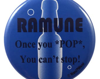 Anime Convention Geek 2.25 Inch Button Ramune Once You Pop