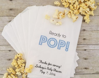 Baby Shower Favors Using Popcorn ~ Ready to pop baby shower party favor label popcorn baby