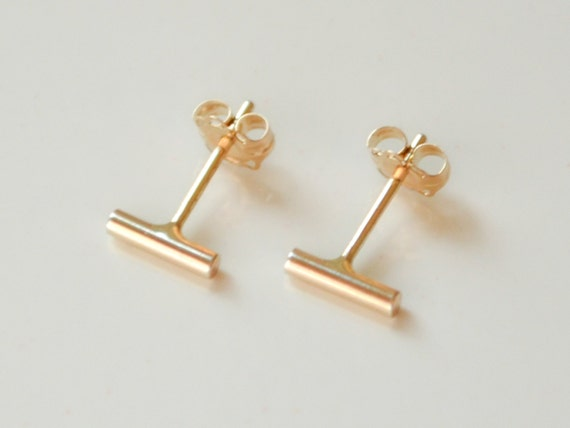 metallic gallery product anna bar earrings beck in stud gold lyst jewelry normal