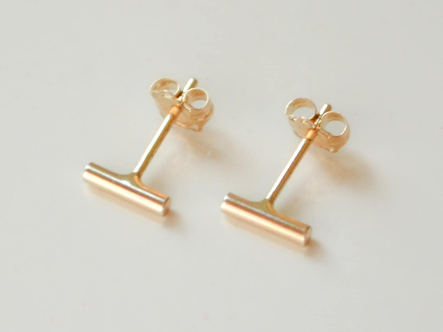 earrings sky stud products little gold stone disc