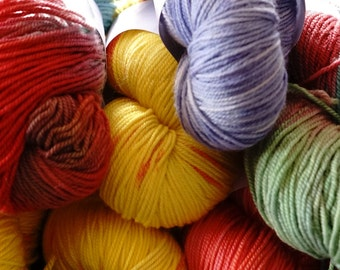 Hand-painted Sport Weight Yarn
