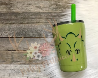 Dinosaur Tumbler - Triceratops- Kid Cup - Gift For Kids