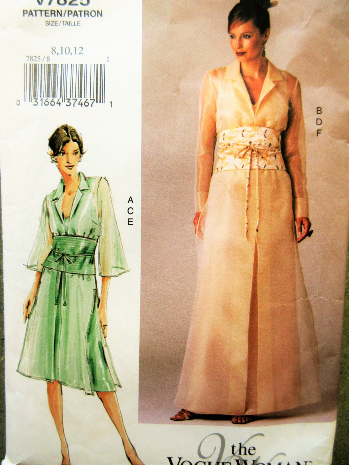 Vogue 7825 Sewing Pattern Formal Dress Pattern Bust 315 To 325