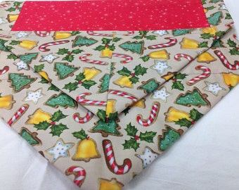 Candy Canes & Christmas Trees Table Runner