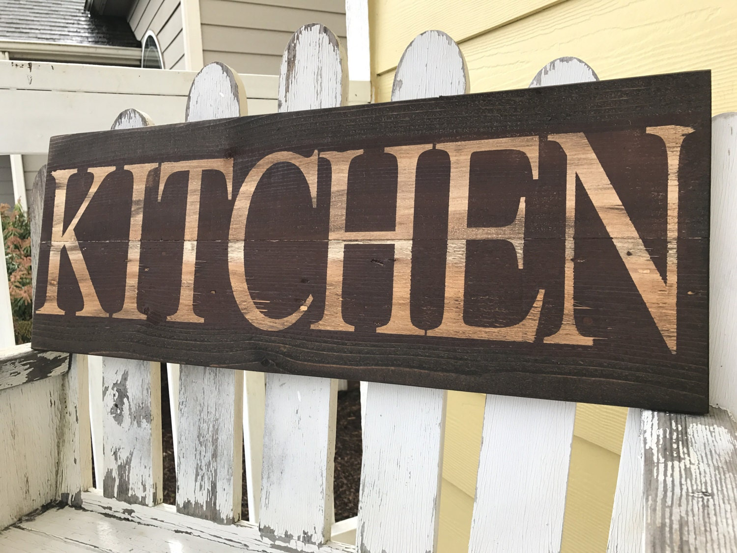 Kitchen Sign Decor Distressed Kitchen Sign Red Kitchen Sign Brown Kitchen