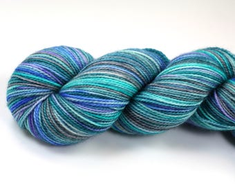Opal--hand dyed sock weight yarn, 2 ply merino, cashmere, nylon (400yds/100gm)