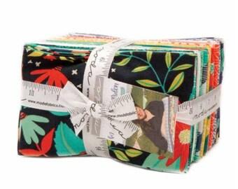 Midnight Garden - Fat Eighth Bundle by One Canoe Two for Moda Fabrics