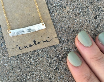 Custom Bar Necklace - 14k Gold (Vermeil)