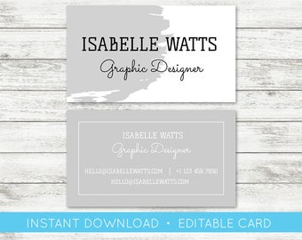 Do it yourself business cards download gallery card design and simple business card etsy edit yourself business card editable custom business card editable template instant download solutioingenieria Choice Image