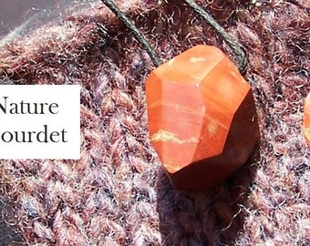 Handmade faceted RED JASPER pendant
