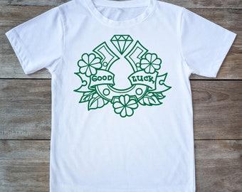 Saint patricks day, st patricks, saint patricks day shirt, luck shirt, horse shoe shirt, luck tee, irish luck shirt, saint patty shirt