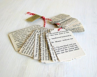 Tags handmade vintage English text