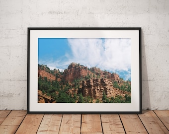 Utah Mountains, in 35mm Film Wall Print, Nature Landscape Photography