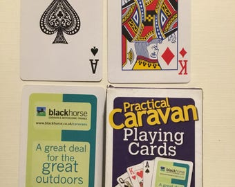 commercial  company, Blackhorse, pracical caravan playing cards. plastic coated  finish.