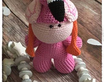 Crochet Amigurumi Flamingo Doll, Crochet Amigurumi Doll, Crochet Doll, Weebee Doll, Bigheaded Doll