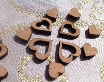 Little Wood Love Hearts Table Mix of 1000 Wedding Decoration Confetti