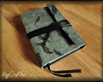 MORRIGAN Book of Shadows - Ravens design - small size 6,3x4,7 inch (16,2x11,8 cm)