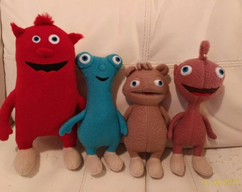 Plush toys just like Cuddlies, ALL FOUR