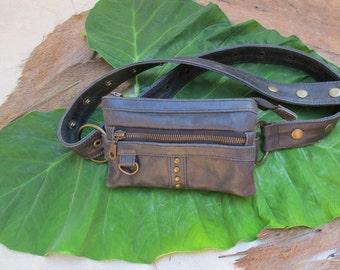 Fanny rock studded vintage grey leather
