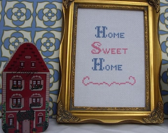 Home Sweet Home Instant Download Cross Stitch Chart
