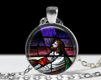 Jesus Necklace Jesus Jewelry Religious Necklace