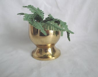 Small Plain Solid Brass Cup Goblet Vintage
