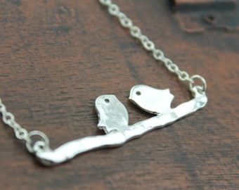 the silver bird in branch jewelry N111A