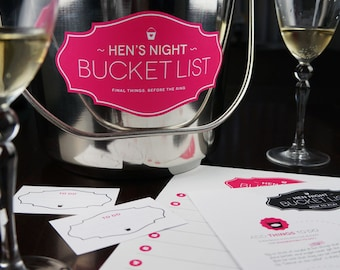 Hen's Night Bucket List - Printable Game