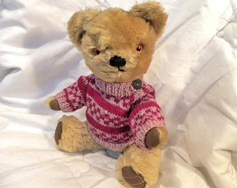 "Merrythought 1960's Teddy Bear 14"" in Gold Mohair"