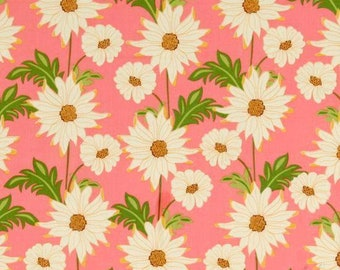 """28"""" x 44"""" Last Piece Floral Meadowsweet DAISY PATH PINK Sandi Henderson Michael Miller Floral Flowers Quilting Sewing Fabric"""