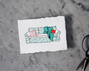 Couch Letterpress Print