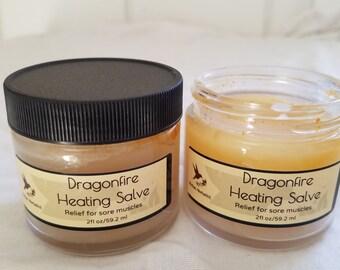 Dragonfire Heating Salve, tiger balm, heating salve, sore muscle salve, muscle salve, muscle balm, heating balm