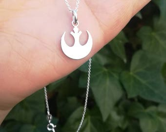 Rebel Alliance necklace Star Wars Sterling Silver