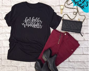Fearfully and Wonderfully Made Handlettered Crew Neck Shirt, Tee