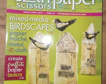 Cloth, Paper Scissors Craft Mixed Media Book March/April 2010