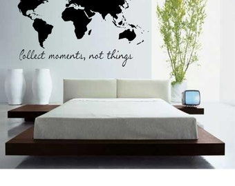 Map wall decal etsy quick view more colors world map gumiabroncs Image collections