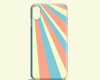 Sun Rays iPhone X case / pastel iPhone 8 / 8 Plus / iPhone 7 / 7 Plus / geometric iPhone 6, 6S / iPhone 5, 5S, SE / Galaxy S7, Galaxy S6, S5