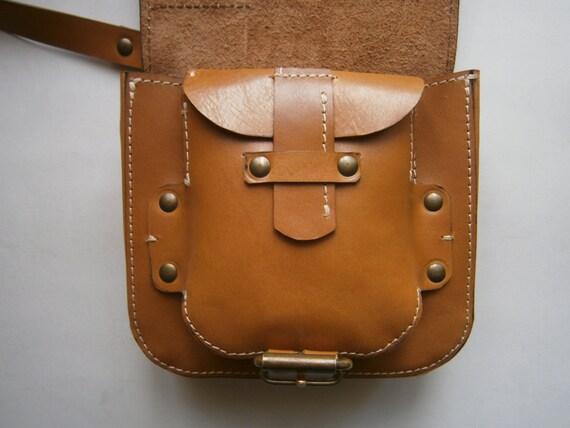 Crossbody brown bag, Genuine Leather Bag, Man Bag, Man Crossbody, Woman Crossbody, Crossover Bag, Brown Bag, Handmade Bag