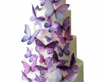 Wedding Cake Topper | Edible Butterfly Cake Decorations | Summer Destination Wedding | Baby Shower Cake | 21st Birthday Cake | Sweet 16 CAKE