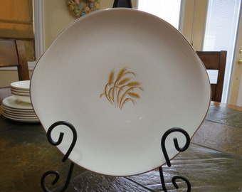 Vintage Golden Wheat 22 kt Gold Made in USA Platter