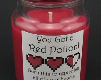 Legend of Zelda Mini Potion Candle - Red Potion, Green Potion, Blue Potion, or Pumpkin Soup