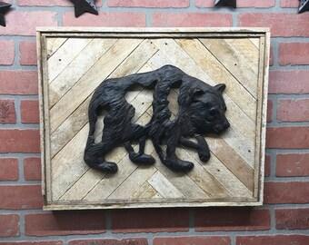 Rustic Bear, Bear, Bear Wall Decor, Bear Wall Art, Cabin Decor, Cabin Wall Art, Wilderness, Outdoors, Nature Decor, Wild Life Decor