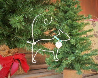 Bull Terrier - Personalized Ornament - Pet Christmas - Dog Ornament - Dog Christmas - Pet Ornament - Bull Terrier Ornament - Terrier Gift