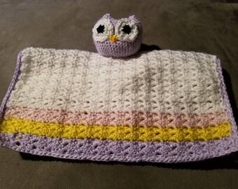 Owl security blanket lovey